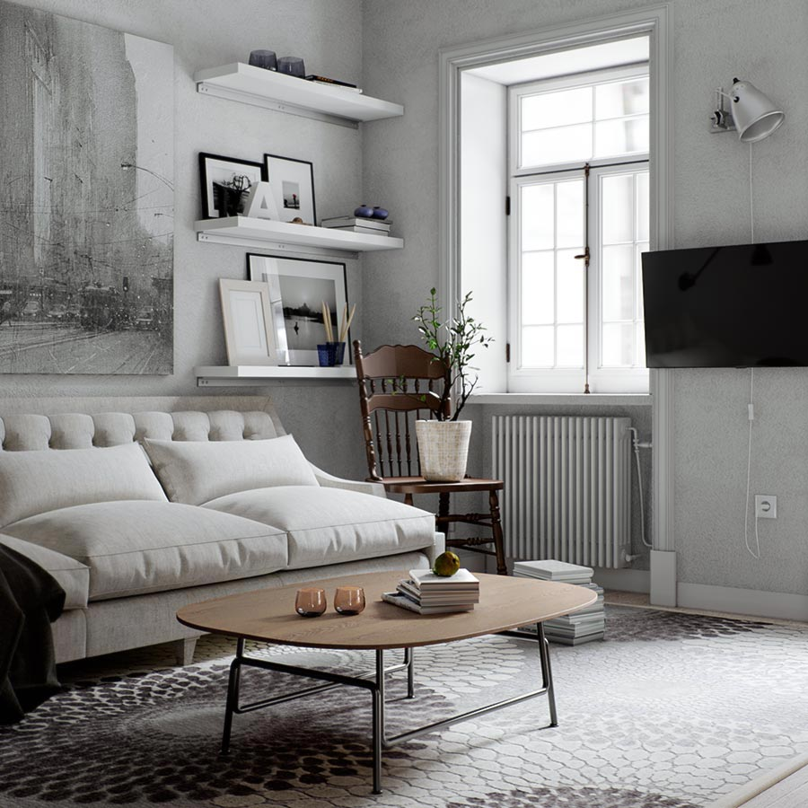 ban sofa phong cach bac au scandinavian